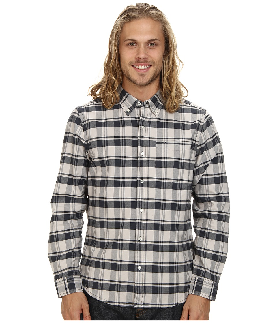 Hurley - Ace Oxford The Plaid Long Sleeve (Light Iron Ore) Men's Long Sleeve Button Up