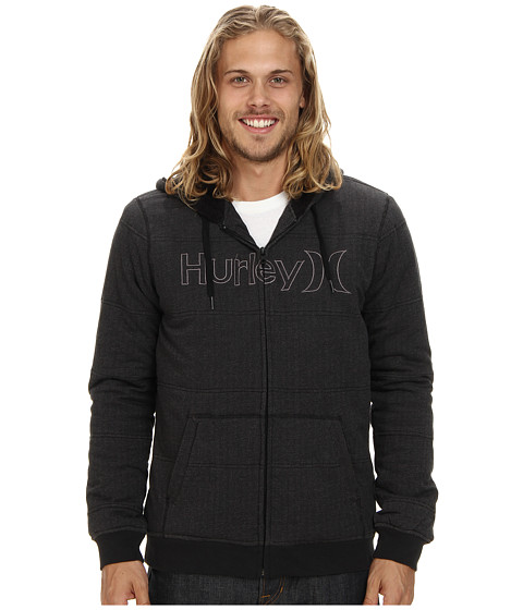 Hurley - One Only Herringbone Fleece (Black) Men's Sweatshirt