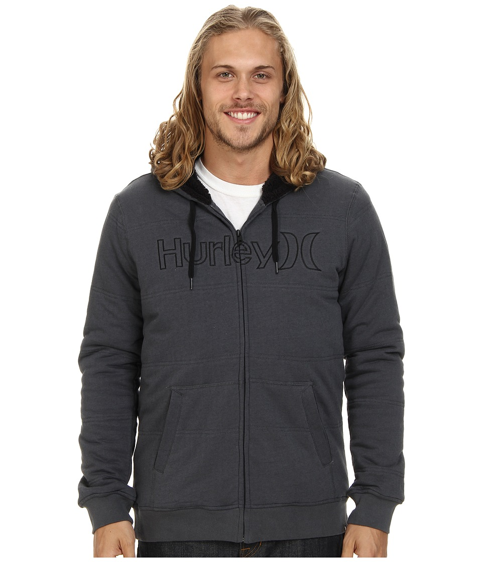 Hurley - One Only Herringbone Fleece (Dark Grey) Men's Sweatshirt