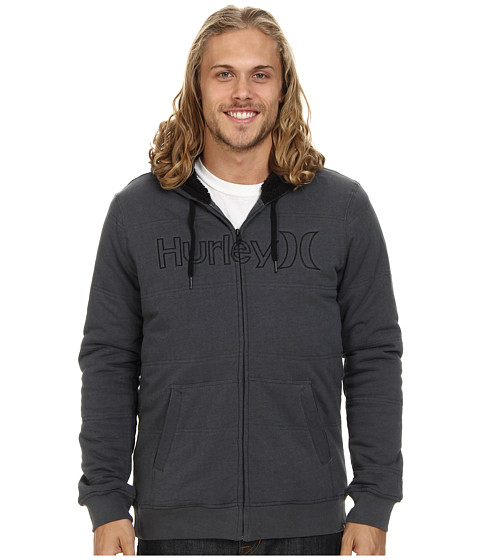 Hurley - One Only Herringbone Fleece (Dark Grey) Men