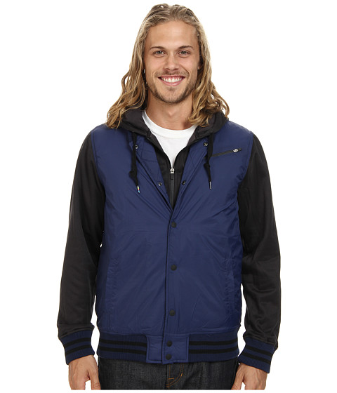 Hurley - Therma-FIT All City Fleece Jacket (Midnight Navy) Men's Coat