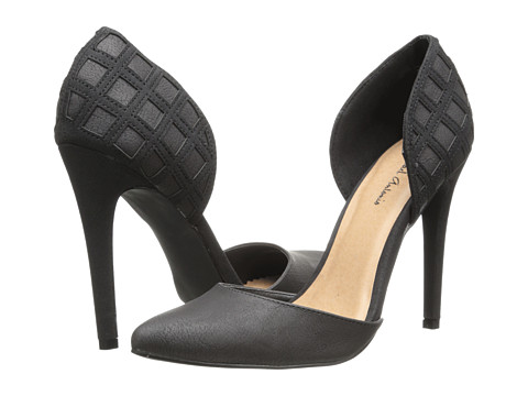 Michael Antonio - Jalena (Black Heavy PU/Brush PU) High Heels