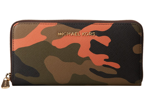 MICHAEL Michael Kors Jet Set Travel ZA Continental (Poppy) Wallet Handbags