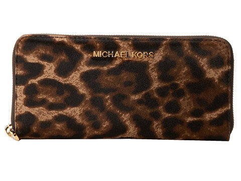 MICHAEL Michael Kors Jet Set Travel ZA Continental (Leopard) Wallet Handbags