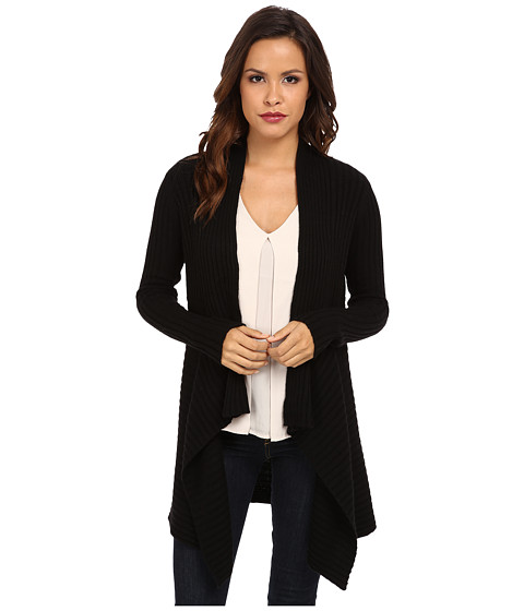 Autumn Cashmere - New Rib Drape (Ebony) Women