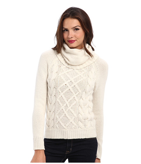 Autumn Cashmere - Handknt Cable Hi Lo (Winter White) Women