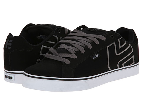 etnies - Fader Vulc (Black/Charcoal/Gum) Men's Skate Shoes