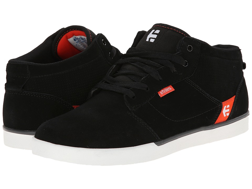 etnies - Jefferson Mid (Black/Red/Grey) Men's Skate Shoes