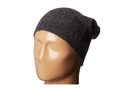 Autumn Cashmere - Cable Mesh Bag Hat (Charcoal) Caps