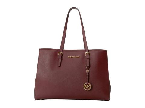 MICHAEL Michael Kors Jet Set Large Travel E/W Tote (Claret) Tote Handbags