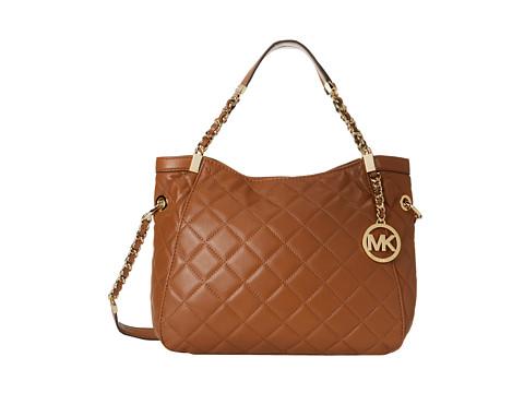MICHAEL Michael Kors - Susannah Medium Shoulder Tote (Walnut) Shoulder Handbags