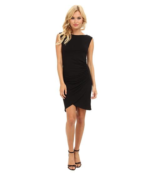 Michael Stars - Sleeveless Dress w/ Shirring Detail (Black) Women's Dress