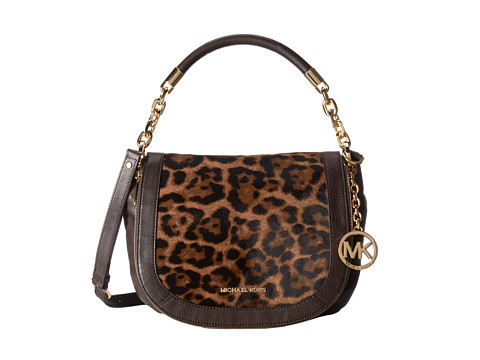 MICHAEL Michael Kors - Stanthorpe Medium Conv Shoulder (Leopard) Satchel Handbags