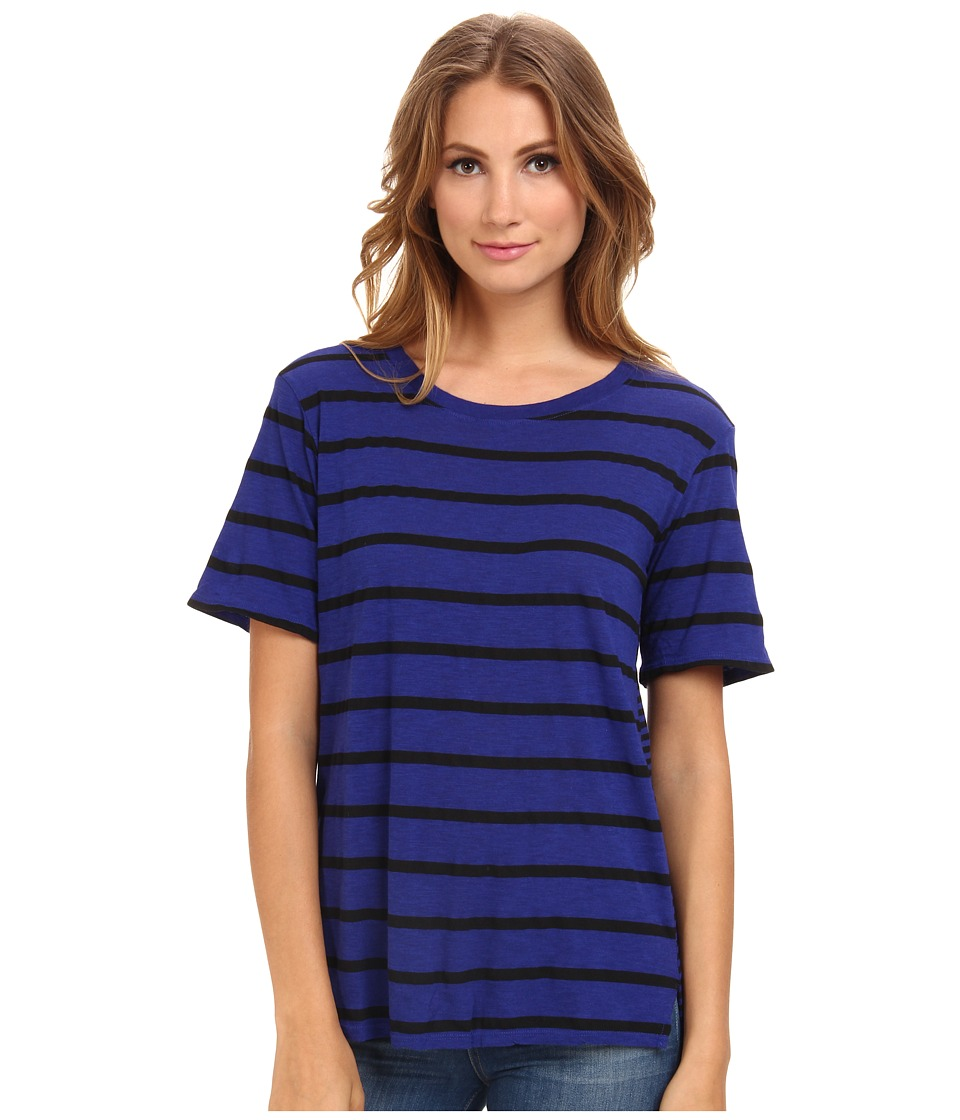 Michael Stars - Downtown Stripe S/S Crew Neck (Imperial) Women