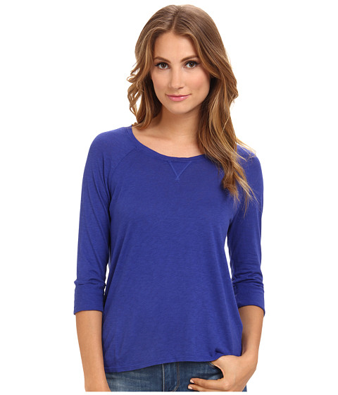 Michael Stars - Luxe Slub 3/4 Sleeve Raglan Scoop Neck (Imperial) Women's T Shirt