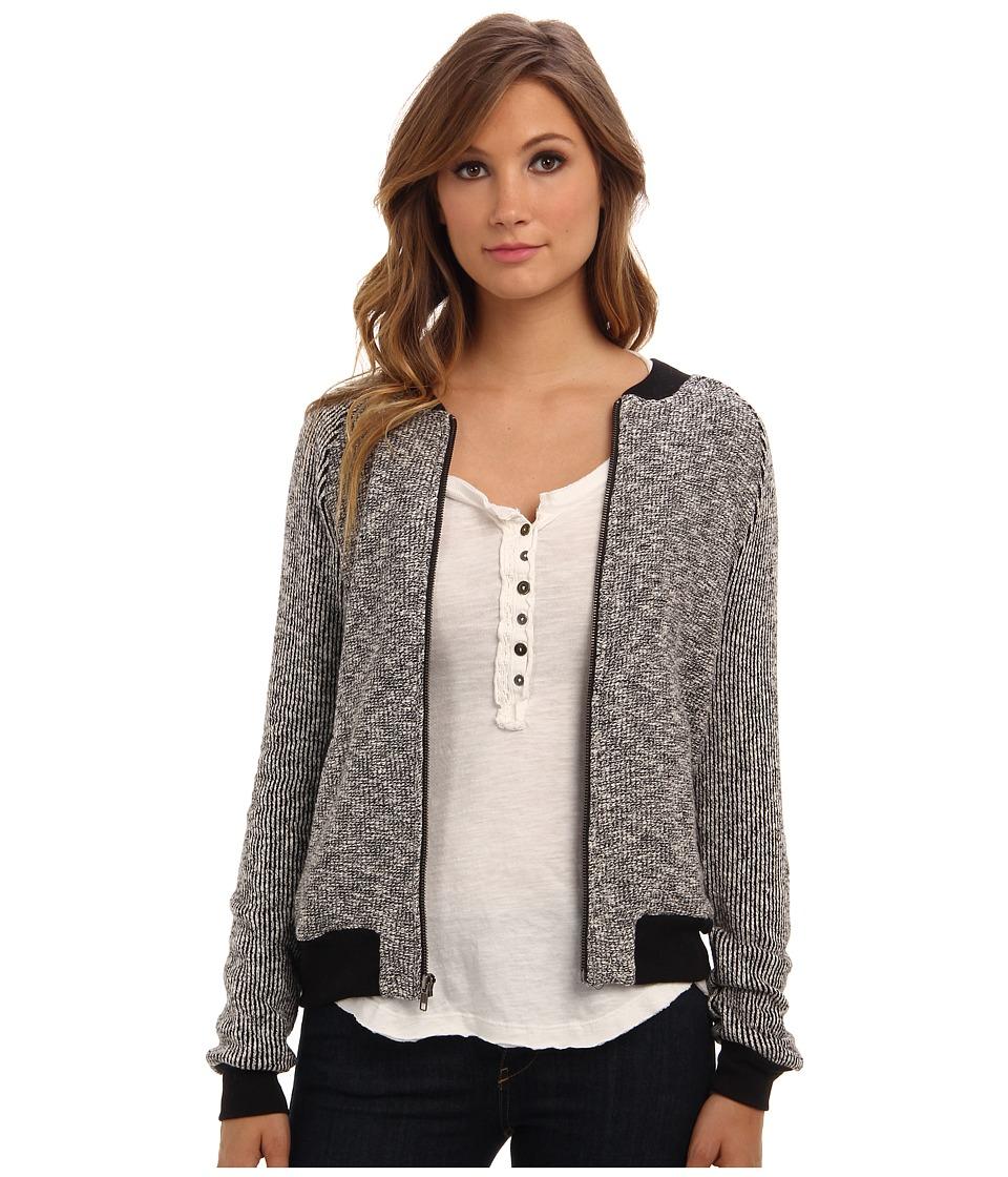 Michael Stars - Knit Tweed L/S Zip Up Jacket (Tweed) Women's Jacket