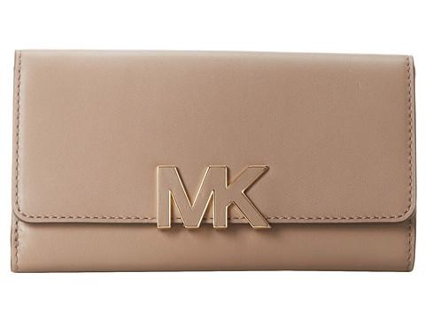 MICHAEL Michael Kors Florence Carryall (Dark Dune) Clutch Handbags