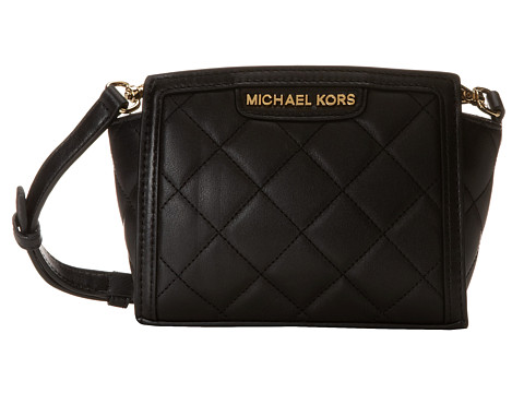 MICHAEL Michael Kors - Selma Quilt Mini Messenger (Black) Cross Body Handbags
