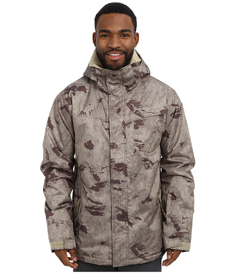Quiksilver - Mission Print Insulated Jacket (Shopping Bag Plaid) Men's Coat
