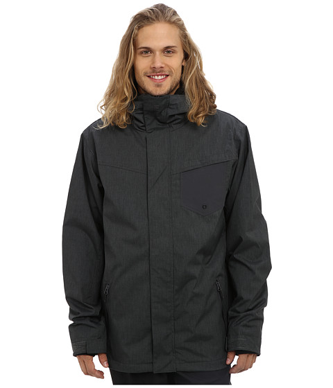 Quiksilver - Mission 3N1 10K Jacket (Asphalt) Men's Coat
