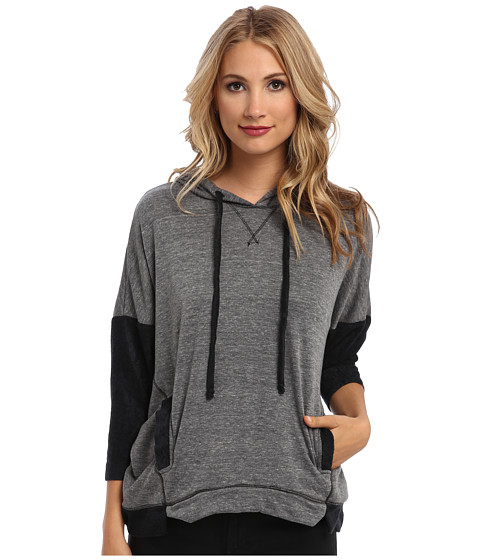 Michael Stars - Double Face Velour Pullover Hoodie (Heather Grey) Women