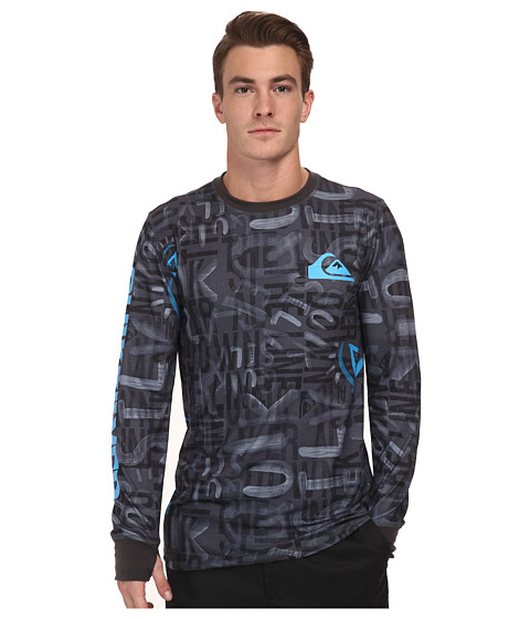 Quiksilver - Duty Free 1st Layer Top (Asphalt) Men's Long Sleeve Pullover