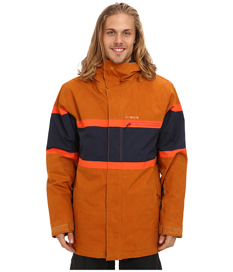 Quiksilver - Fraction Jacket (Sudan Brown) Men