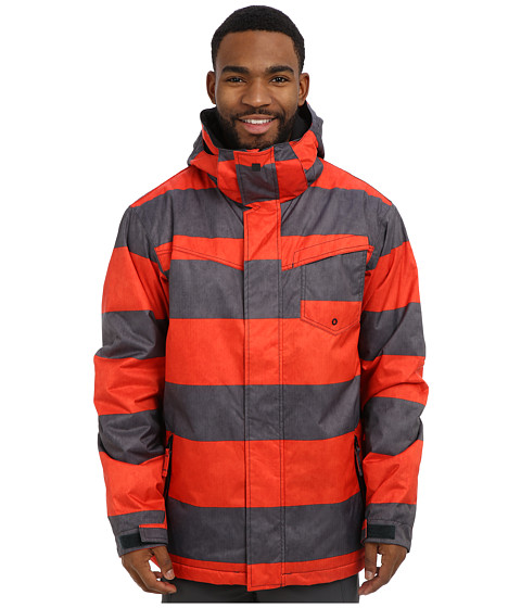 Quiksilver - Mission Print Insulated Jacket (Fiery Red) Men's Coat