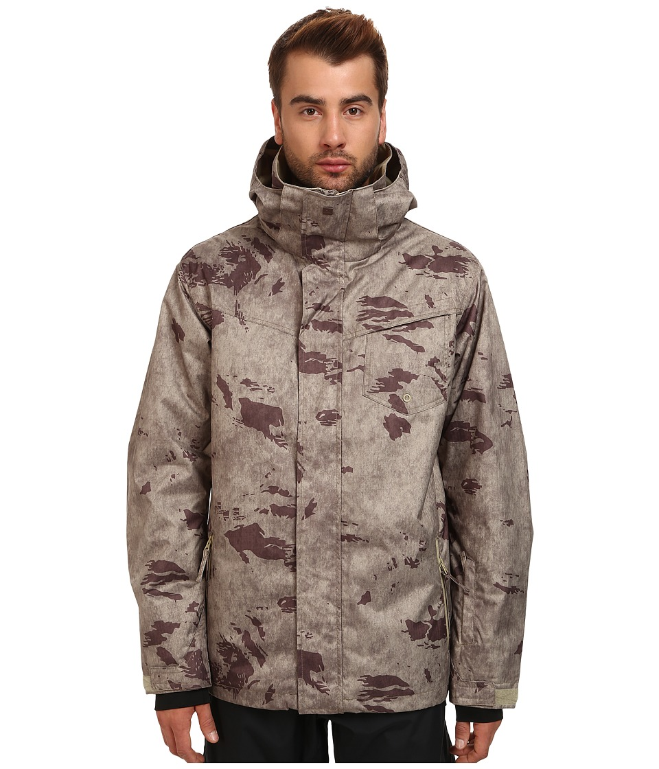 Quiksilver - Mission Print Shell Jacket (Leftover Camo) Men
