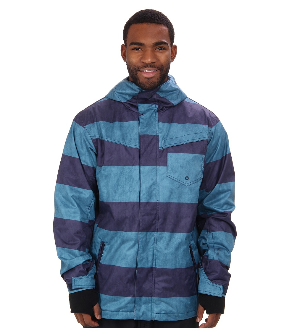 Quiksilver - Mission 3N1 10K Jacket (Moroccan Blue) Men's Coat