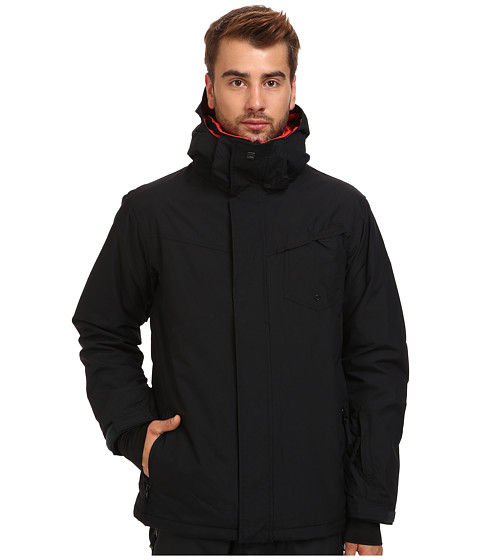 Quiksilver - Mission Solid Jacket (Caviar) Men's Coat
