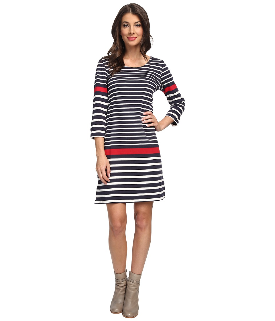 Hatley - 3/4 Sleeve Shift Dress (Nautical Stripes) Women's Dress