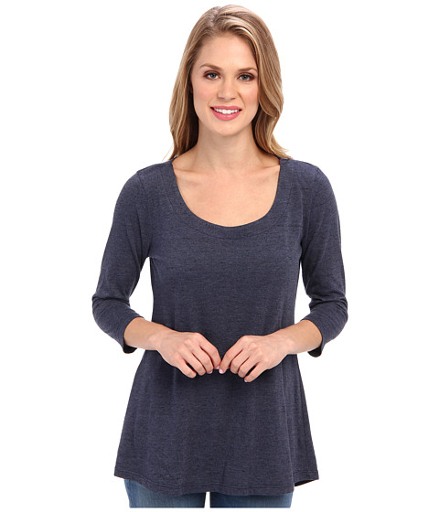 Miraclebody Jeans - Bella Three-Quarter Sleeve Top w/ Body-Shaping Inner Shell (Navy) Women