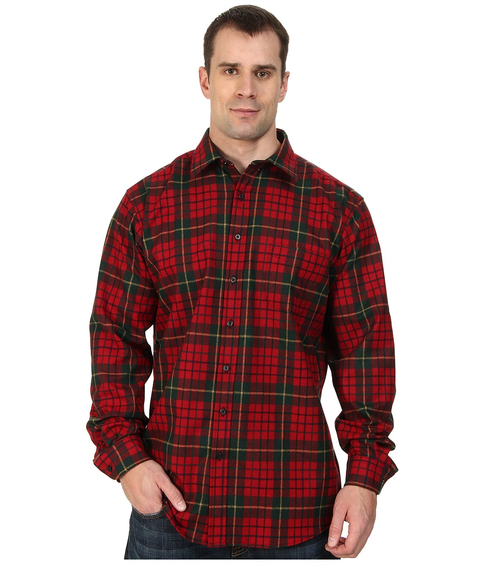 Pendleton - L/S Lodge Shirt (Tall) (Pendleton Red Tartan) Men's Long Sleeve Button Up