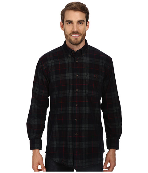 Pendleton - L/S Wayne Shirt (Navy Plaid Corduroy) Men's Long Sleeve Button Up