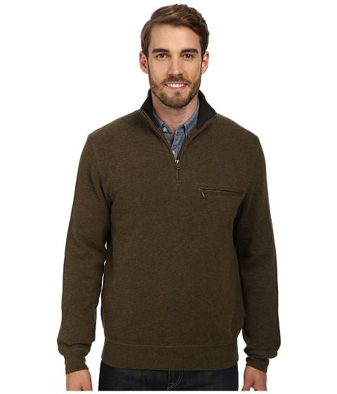 Pendleton - Manzanita 1/4 Zip Sweater (Peat Mix Solid) Men