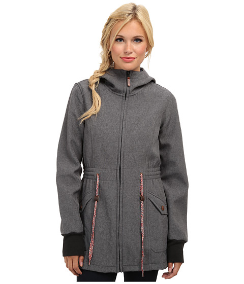 Roxy - Teen Spirit Softshell (Anthracite) Women's Coat
