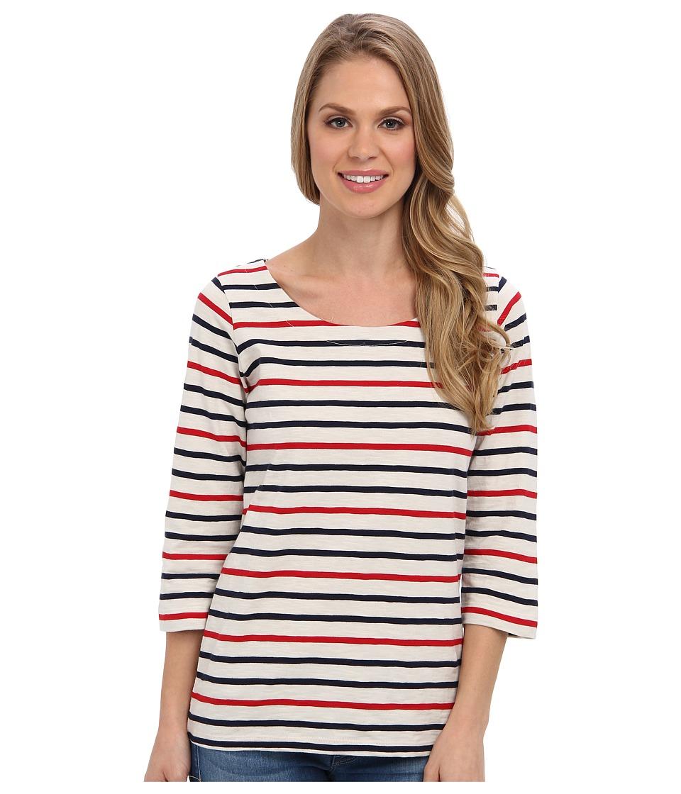 Hatley - Deck Zip Tee (Red Navy Cream Stripes) Women
