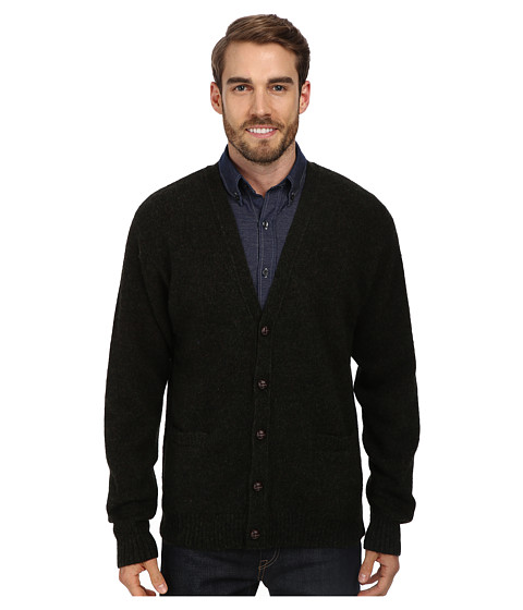 Pendleton - Shetland Cardigan Sweater (Evergreen/Black) Men's Sweater