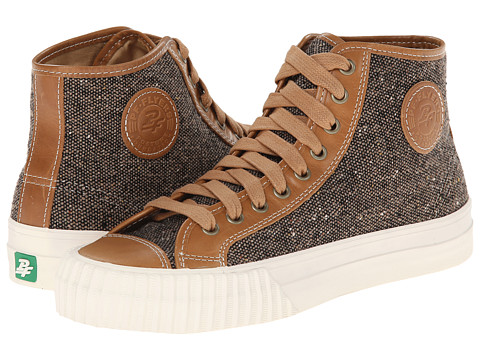PF Flyers - Center Hi-Tweed (Butterscotch Leather/Tweed) Lace up casual Shoes