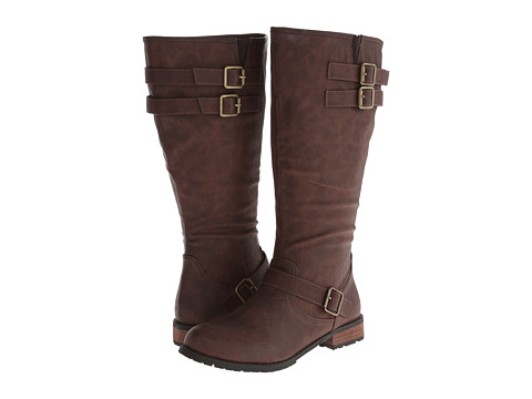 Type Z - Martiz Wide Calf (Brown) Women's Lace-up Boots
