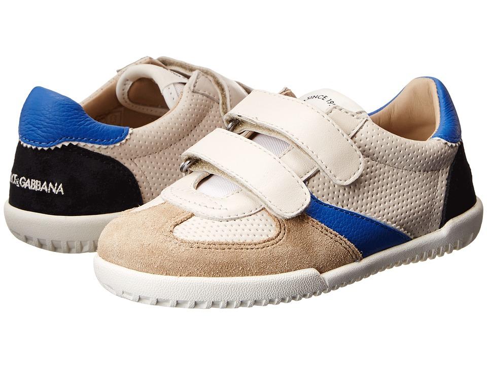 Dolce & Gabbana - Low Top Velcro Sneaker (Little Kid) (Sand) Men's Shoes