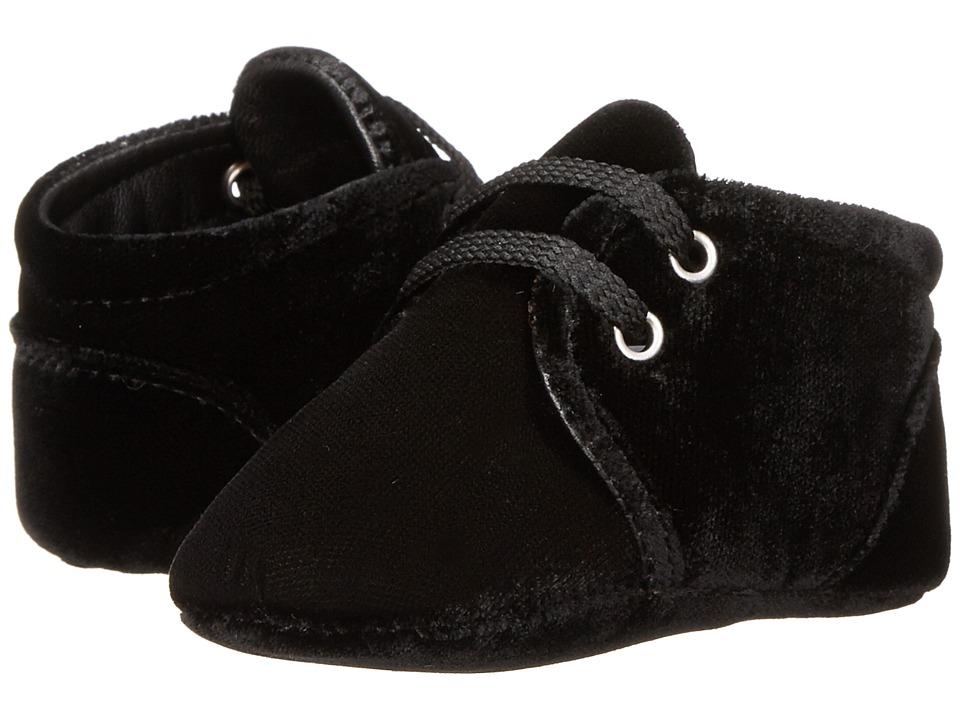 Dolce & Gabbana Kids - Velvet Lace-up Sneaker (Infant) (Black) Boy's Shoes