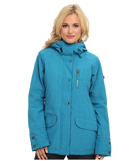 Roxy - Andie Jacket (Oriental Blue) Women's Coat
