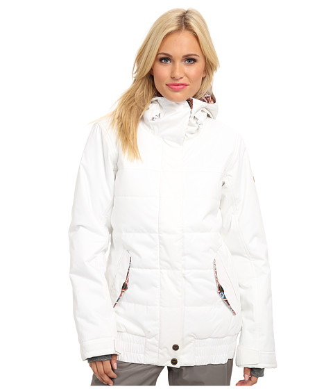 Roxy - Bomber Jacket (Bright White) Women's Coat