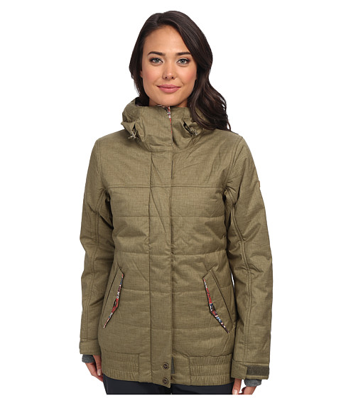 Roxy - Bomber Jacket (Burnt Olive) Women's Coat