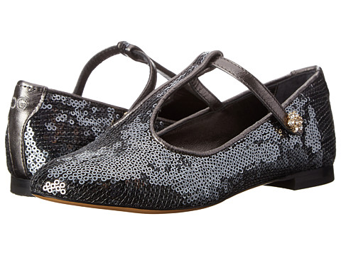 Dolce & Gabbana - Glitter May Jane w/ Ankle Strap (Little Kid) (Anthracite) Women's Maryjane Shoes