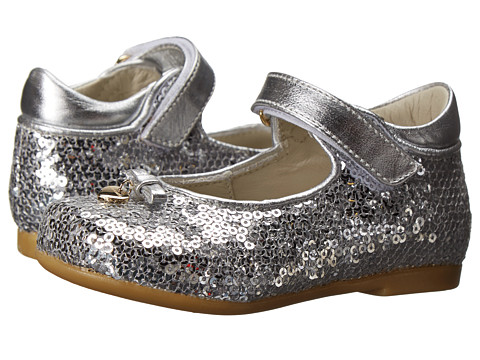 Dolce & Gabbana - Sequin Mary Jane (Toddler) (Silver) Women's Maryjane Shoes