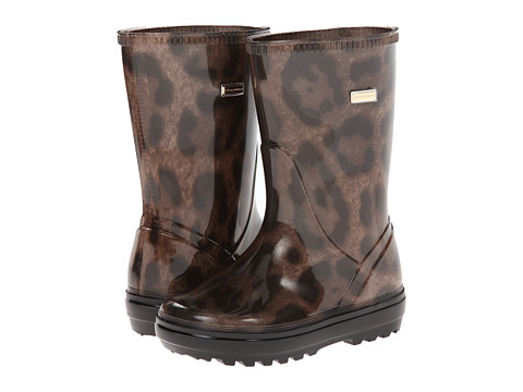 Dolce & Gabbana - Leopard Print Rubber Boot (Toddler/Little Kid/Big Kid) (Leopard Print) Women's Boots