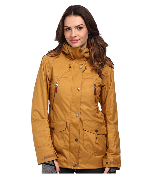 Roxy - KJ Tribe Jacket (Bone Brown) Women's Coat